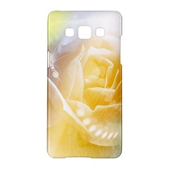 Beautiful Yellow Rose Samsung Galaxy A5 Hardshell Case  by FantasyWorld7
