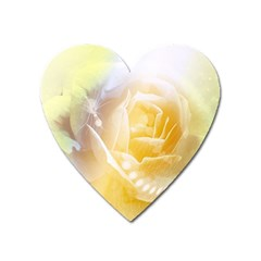 Beautiful Yellow Rose Heart Magnet by FantasyWorld7
