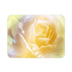 Beautiful Yellow Rose Double Sided Flano Blanket (mini)  by FantasyWorld7