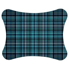 Teal Plaid Jigsaw Puzzle Photo Stand (bow) by snowwhitegirl