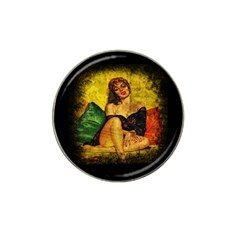 Pin Up Girl  Hat Clip Ball Marker by Valentinaart
