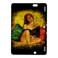 Pin Up Girl  Kindle Fire Hdx 8 9  Hardshell Case by Valentinaart