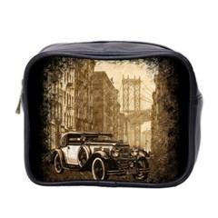 Vintage Old Car Mini Toiletries Bag 2 Side by Valentinaart