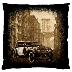 Vintage Old Car Large Cushion Case (two Sides) by Valentinaart