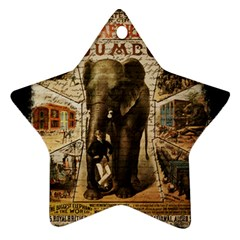 Vintage Circus  Ornament (star) by Valentinaart