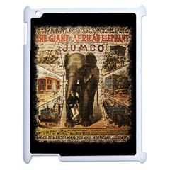 Vintage Circus  Apple Ipad 2 Case (white) by Valentinaart