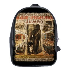 Vintage Circus  School Bag (xl) by Valentinaart