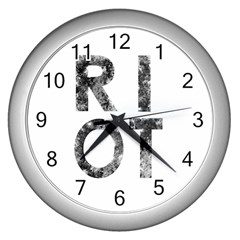 Riot Wall Clocks (silver)  by Valentinaart