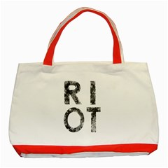 Riot Classic Tote Bag (red) by Valentinaart