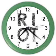 Riot Color Wall Clocks by Valentinaart