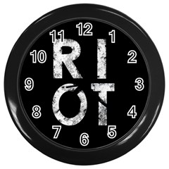 Riot Wall Clocks (black) by Valentinaart