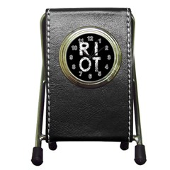 Riot Pen Holder Desk Clocks by Valentinaart