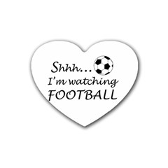 Football Fan  Rubber Coaster (heart)  by Valentinaart