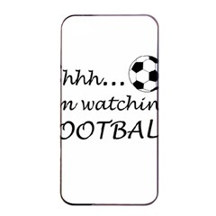 Football Fan  Apple Iphone 4/4s Seamless Case (black) by Valentinaart