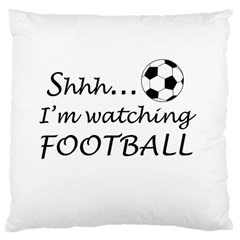 Football Fan  Large Cushion Case (one Side) by Valentinaart