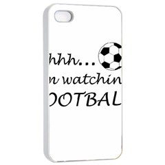 Football Fan  Apple Iphone 4/4s Seamless Case (white) by Valentinaart