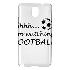 Football Fan  Samsung Galaxy Note 3 N9005 Hardshell Case by Valentinaart