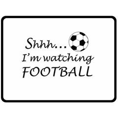 Football Fan  Double Sided Fleece Blanket (large)  by Valentinaart
