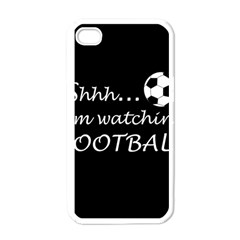 Football Fan  Apple Iphone 4 Case (white) by Valentinaart