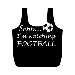 Football Fan  Full Print Recycle Bags (m)  by Valentinaart