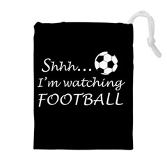 Football Fan  Drawstring Pouches (extra Large) by Valentinaart
