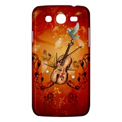 Violin With Violin Bow And Dove Samsung Galaxy Mega 5 8 I9152 Hardshell Case  by FantasyWorld7