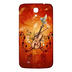 Violin With Violin Bow And Dove Samsung Galaxy Mega I9200 Hardshell Back Case by FantasyWorld7