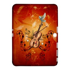Violin With Violin Bow And Dove Samsung Galaxy Tab 4 (10 1 ) Hardshell Case  by FantasyWorld7