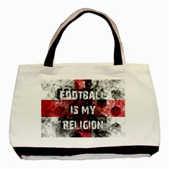 Football Is My Religion Basic Tote Bag by Valentinaart