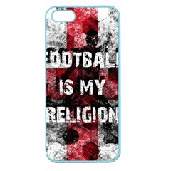 Football Is My Religion Apple Seamless Iphone 5 Case (color) by Valentinaart