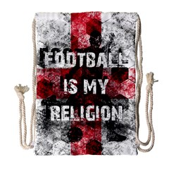 Football Is My Religion Drawstring Bag (large) by Valentinaart