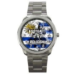 Football Is My Religion Sport Metal Watch by Valentinaart