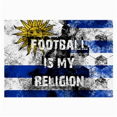 Football Is My Religion Large Glasses Cloth (2 Side) by Valentinaart