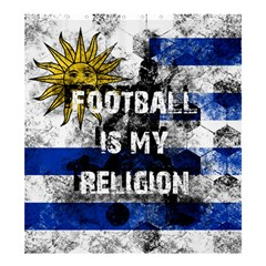 Football Is My Religion Shower Curtain 66  X 72  (large)  by Valentinaart