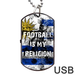 Football Is My Religion Dog Tag Usb Flash (two Sides) by Valentinaart