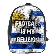 Football Is My Religion School Bag (xl) by Valentinaart