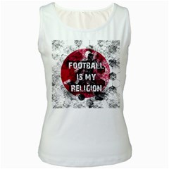 Football Is My Religion Women s White Tank Top by Valentinaart