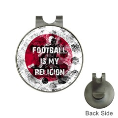 Football Is My Religion Hat Clips With Golf Markers by Valentinaart
