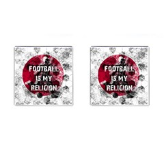 Football Is My Religion Cufflinks (square) by Valentinaart