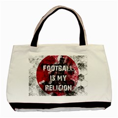 Football Is My Religion Basic Tote Bag (two Sides) by Valentinaart