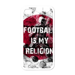 Football Is My Religion Apple Iphone 4 Case (white) by Valentinaart