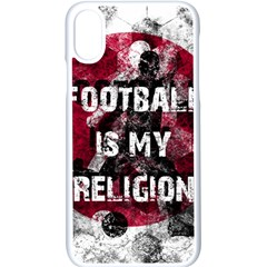 Football Is My Religion Apple Iphone X Seamless Case (white) by Valentinaart