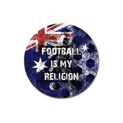 Football Is My Religion Magnet 3  (round) by Valentinaart