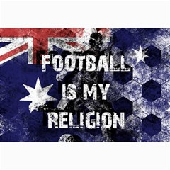 Football Is My Religion Canvas 24  X 36  by Valentinaart