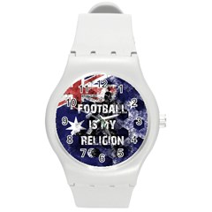 Football Is My Religion Round Plastic Sport Watch (m) by Valentinaart