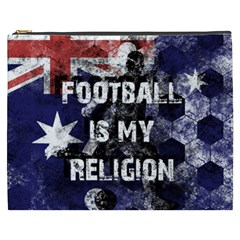 Football Is My Religion Cosmetic Bag (xxxl)  by Valentinaart