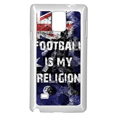Football Is My Religion Samsung Galaxy Note 4 Case (white) by Valentinaart