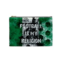 Football Is My Religion Cosmetic Bag (medium)  by Valentinaart