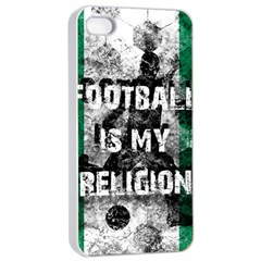 Football Is My Religion Apple Iphone 4/4s Seamless Case (white) by Valentinaart