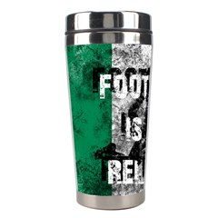 Football Is My Religion Stainless Steel Travel Tumblers by Valentinaart